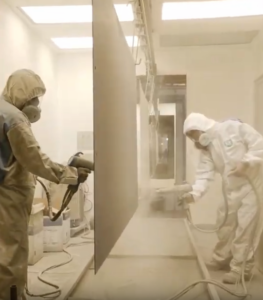 What is the powder coating paint system that MGM uses?
