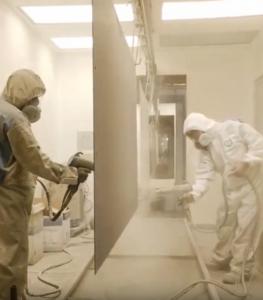 MGM uses powder coating paint process